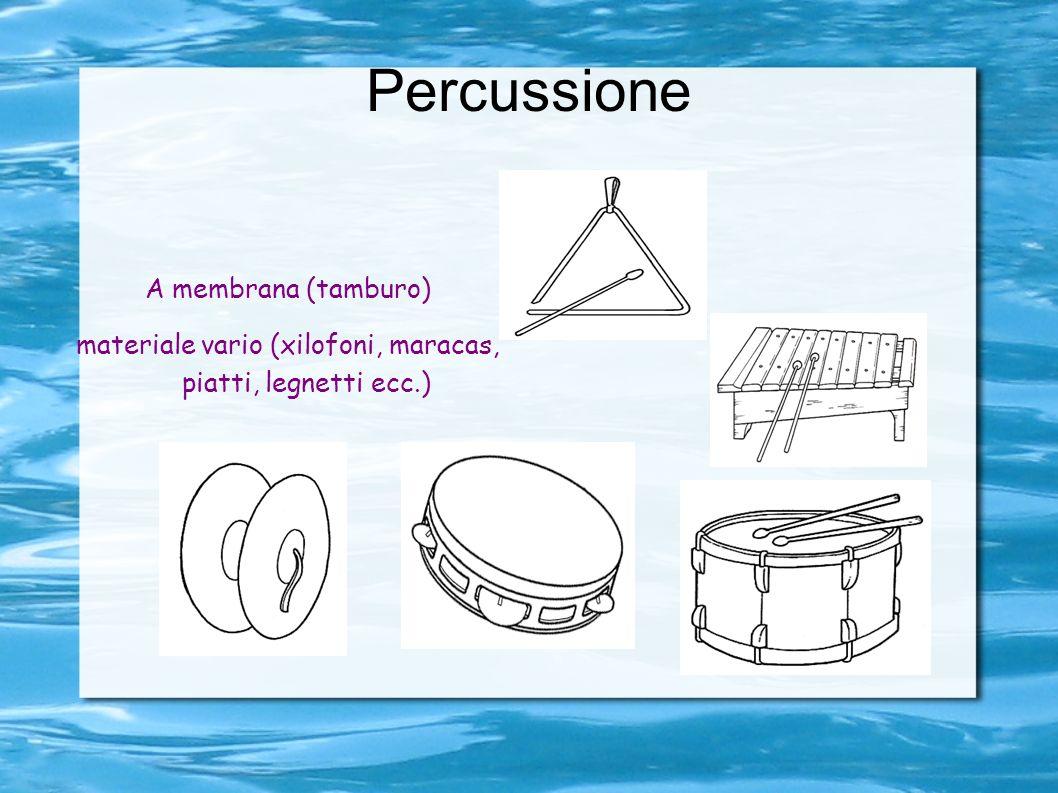 materiale vario (xilofoni, maracas, piatti, legnetti ecc.)