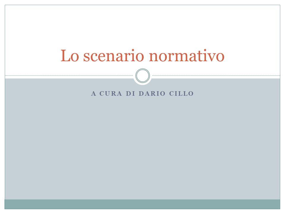 Lo scenario normativo a cura di Dario Cillo