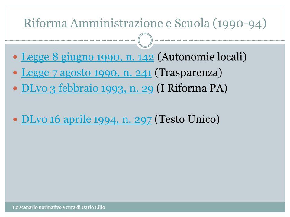 Riforma Amministrazione e Scuola (1990-94)