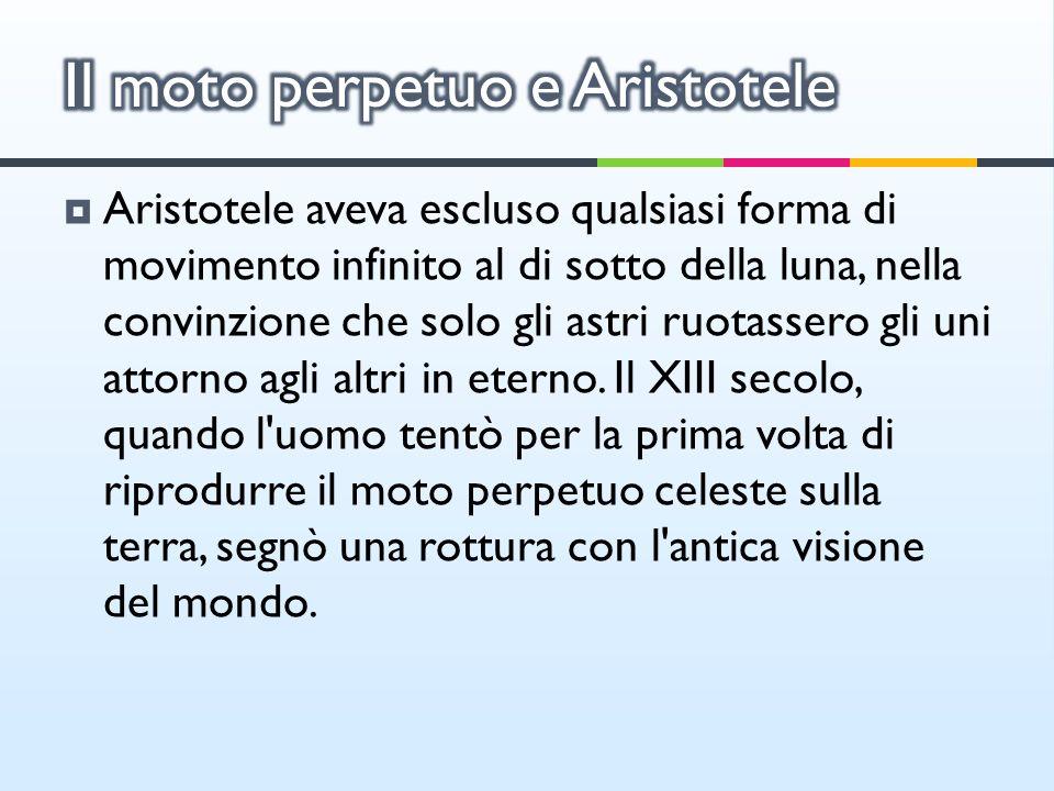 Il moto perpetuo e Aristotele