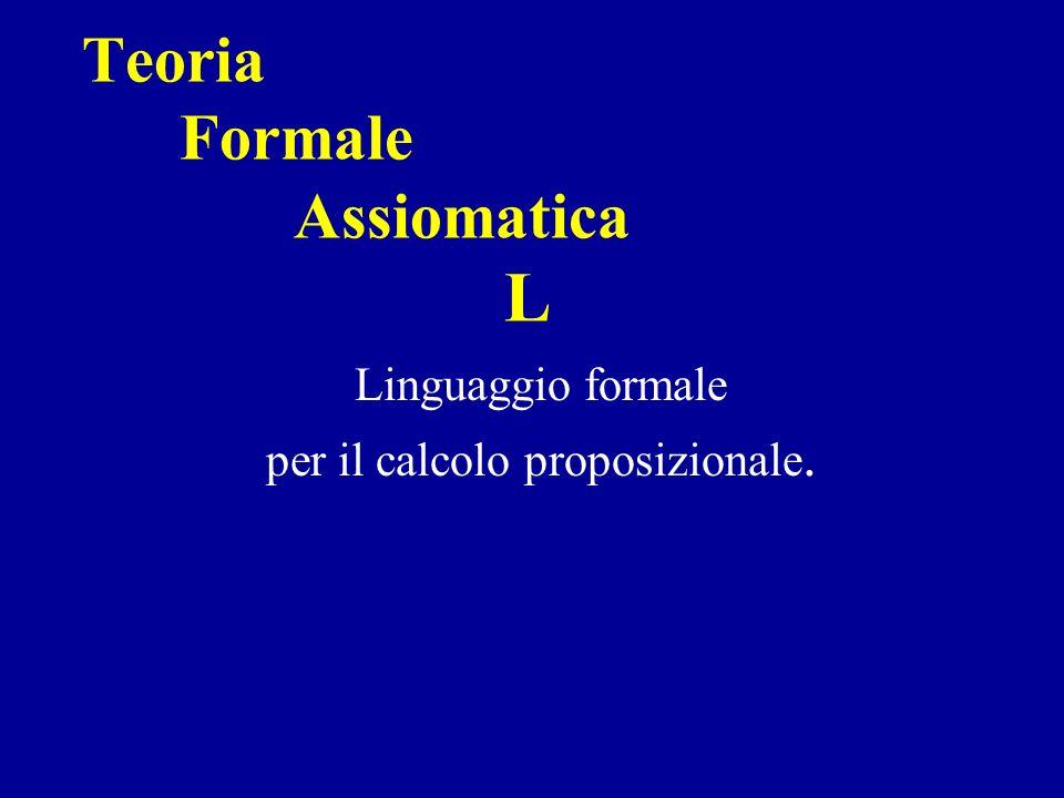 Teoria Formale Assiomatica L