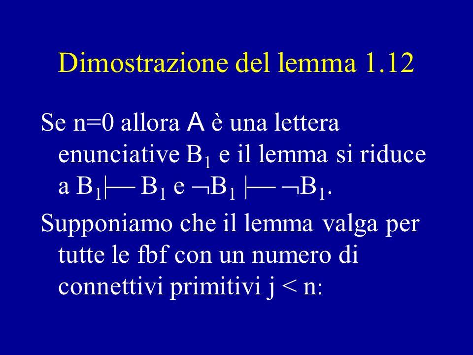 Dimostrazione del lemma 1.12