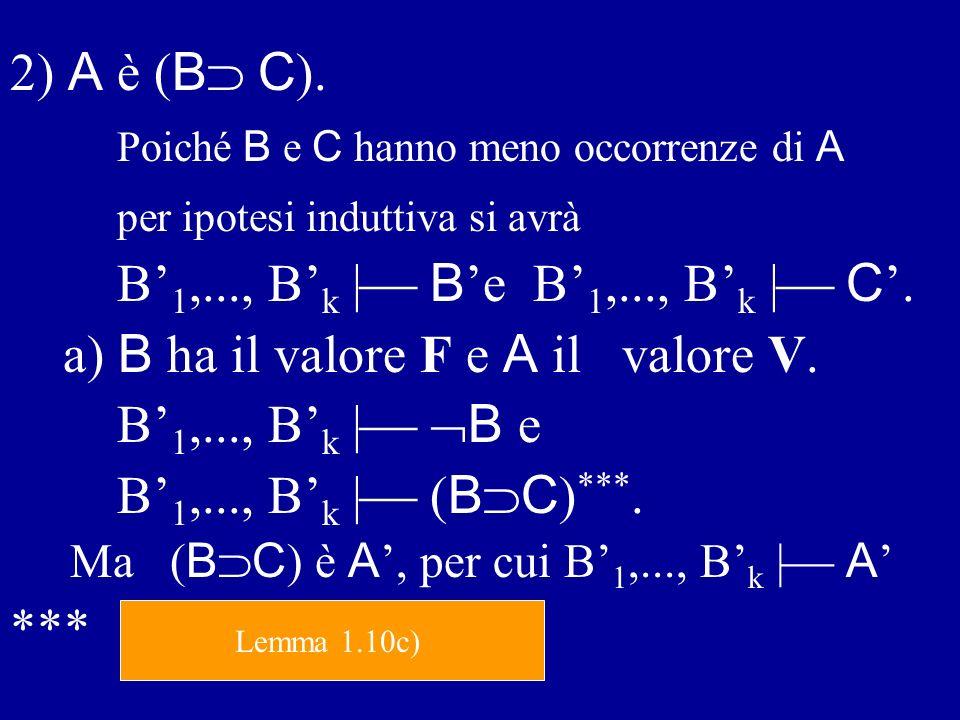 Poiché B e C hanno meno occorrenze di A