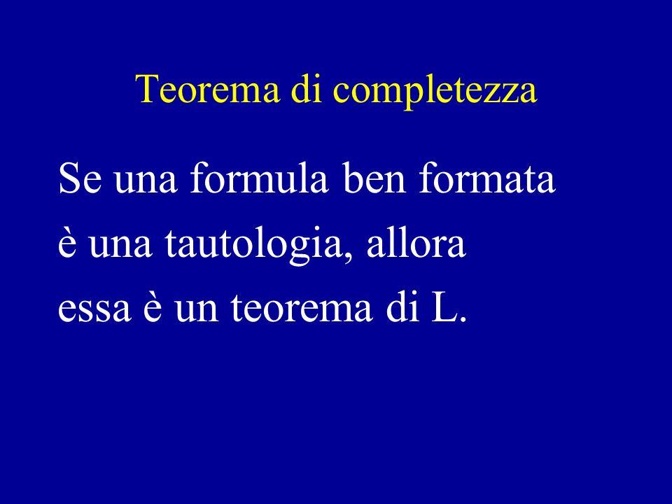 Teorema di completezza