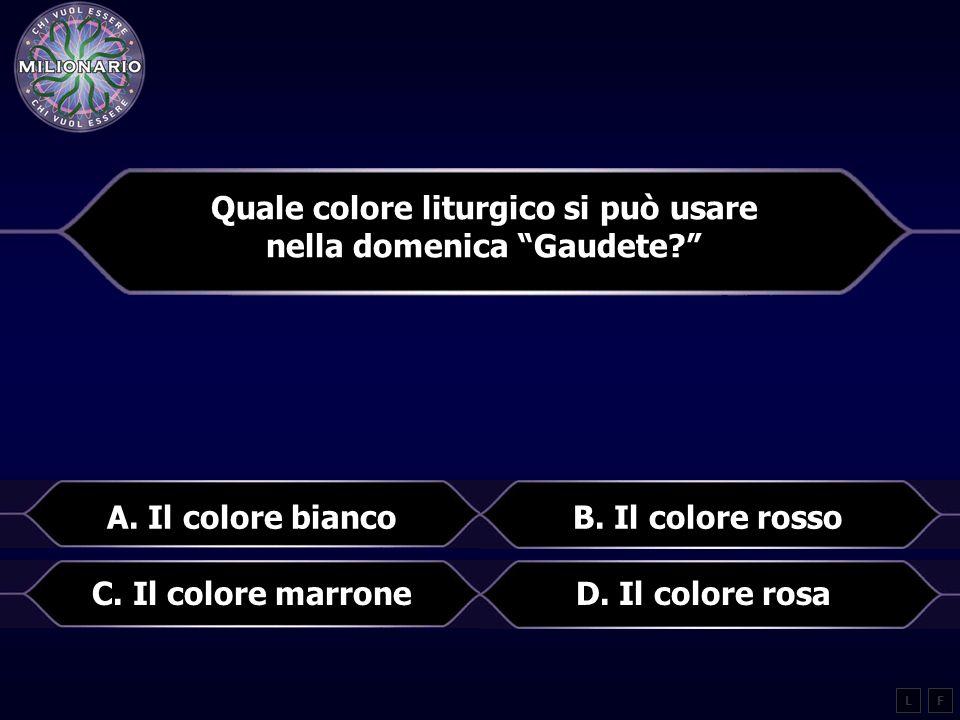 Quale colore liturgico si può usare nella domenica Gaudete