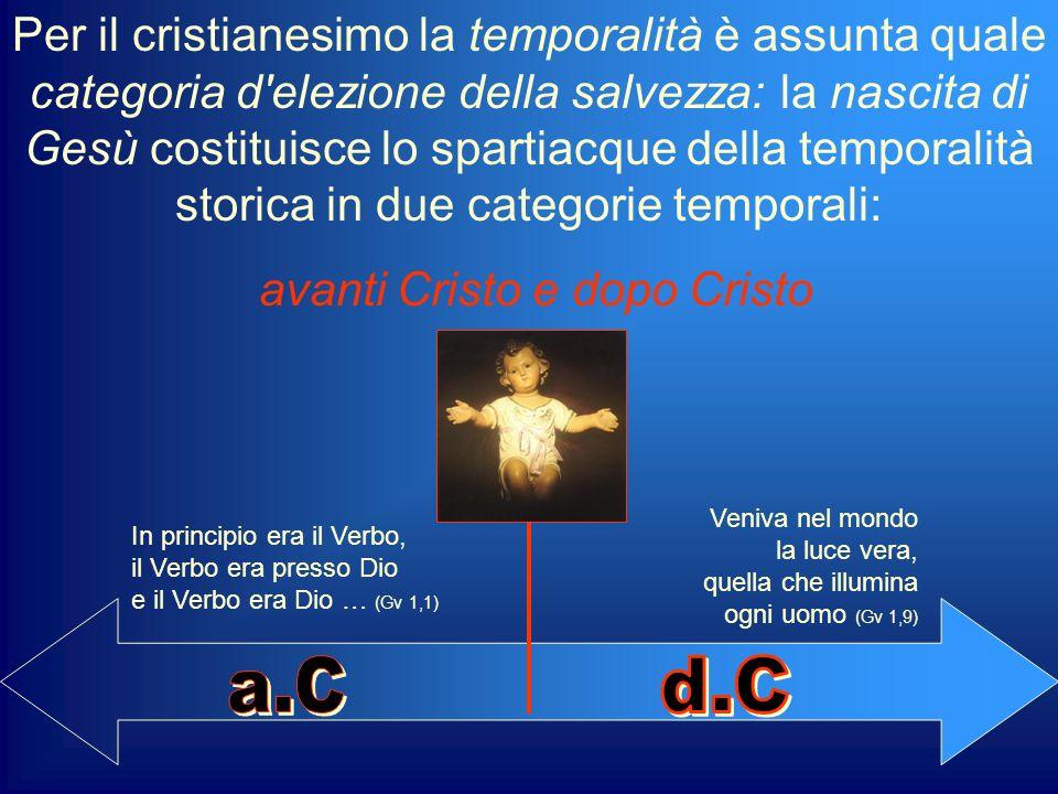 avanti Cristo e dopo Cristo