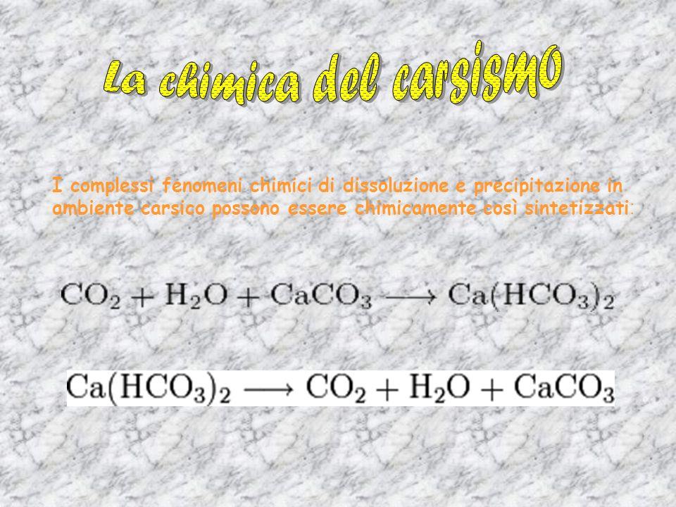 La chimica del carsismo