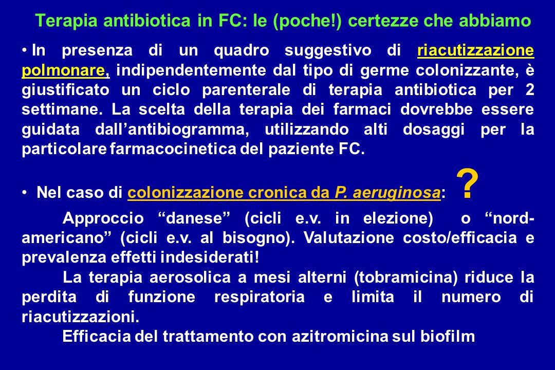 Terapia antibiotica in FC: le (poche!) certezze che abbiamo