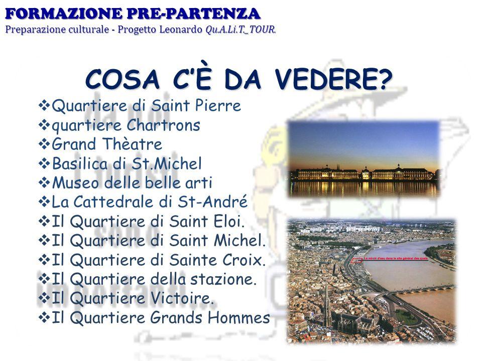 COSA C'È DA VEDERE FORMAZIONE PRE-PARTENZA Quartiere di Saint Pierre