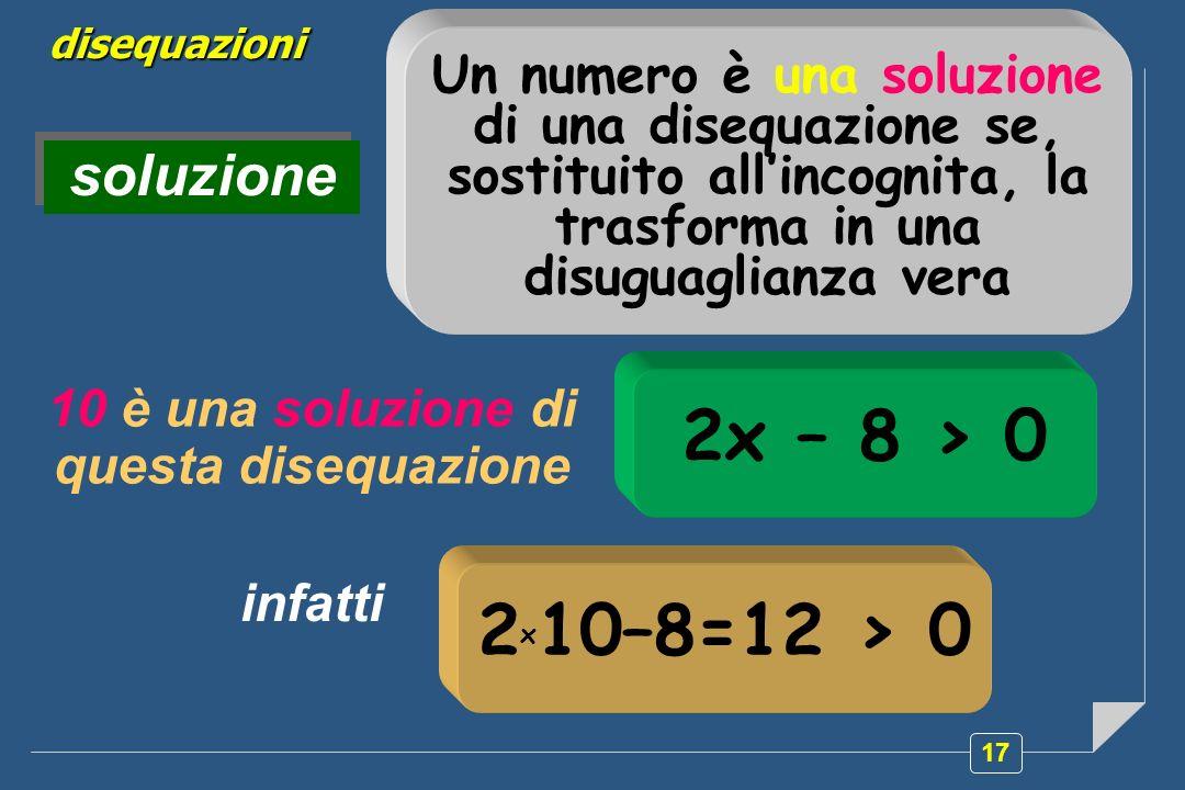 10 è una soluzione di questa disequazione