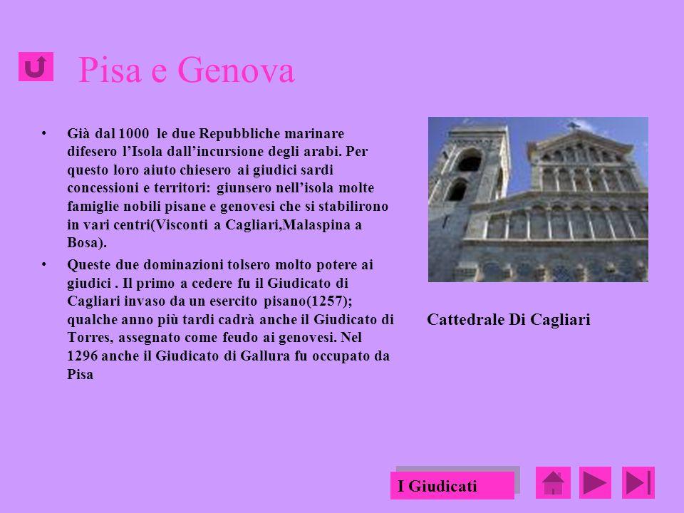 Pisa e Genova Cattedrale Di Cagliari I Giudicati