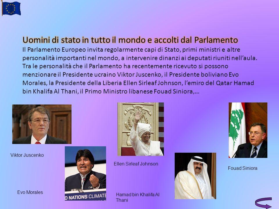 Uomini di stato in tutto il mondo e accolti dal Parlamento