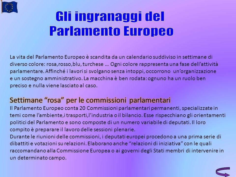 Gli ingranaggi del Parlamento Europeo