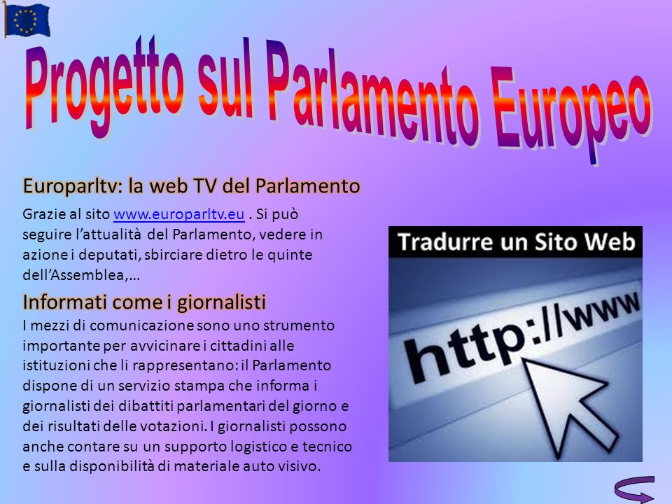 Progetto sul Parlamento Europeo