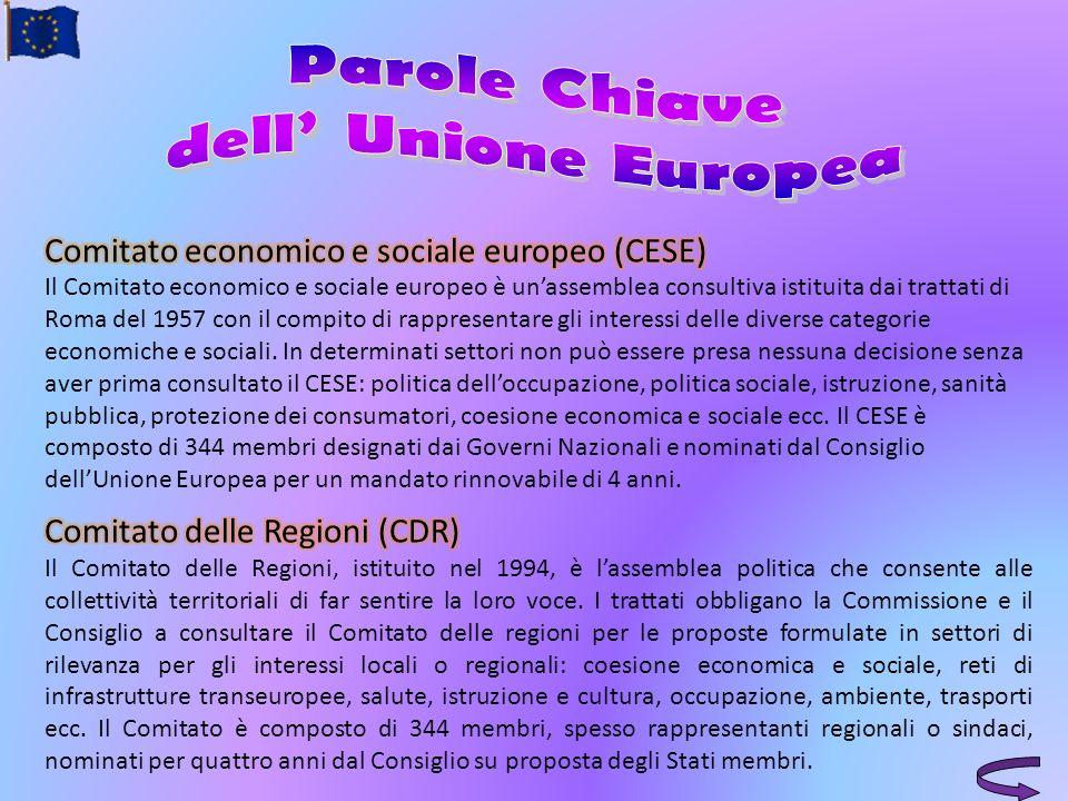 Parole Chiave dell' Unione Europea