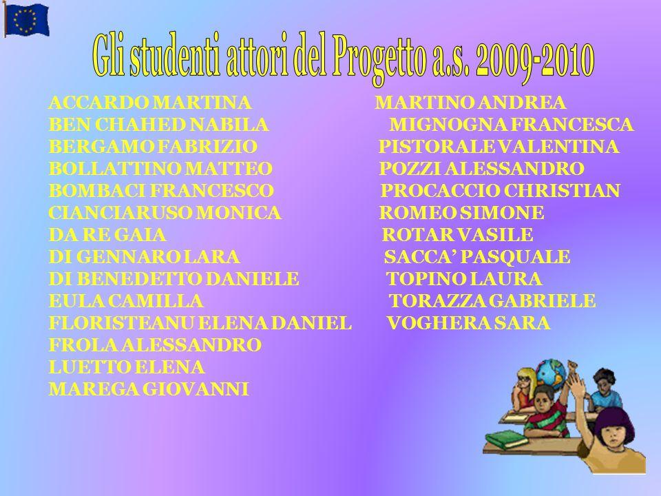 Gli studenti attori del Progetto a.s. 2009-2010