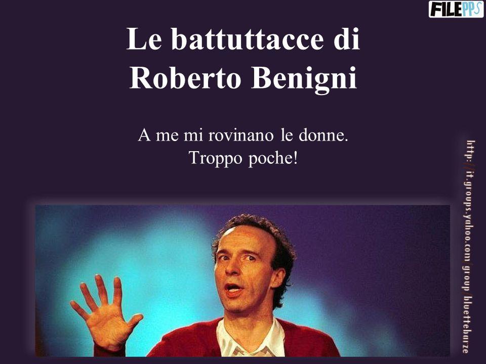 Le battuttacce di Roberto Benigni