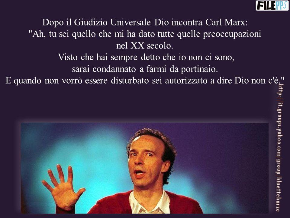 Dopo il Giudizio Universale Dio incontra Carl Marx: