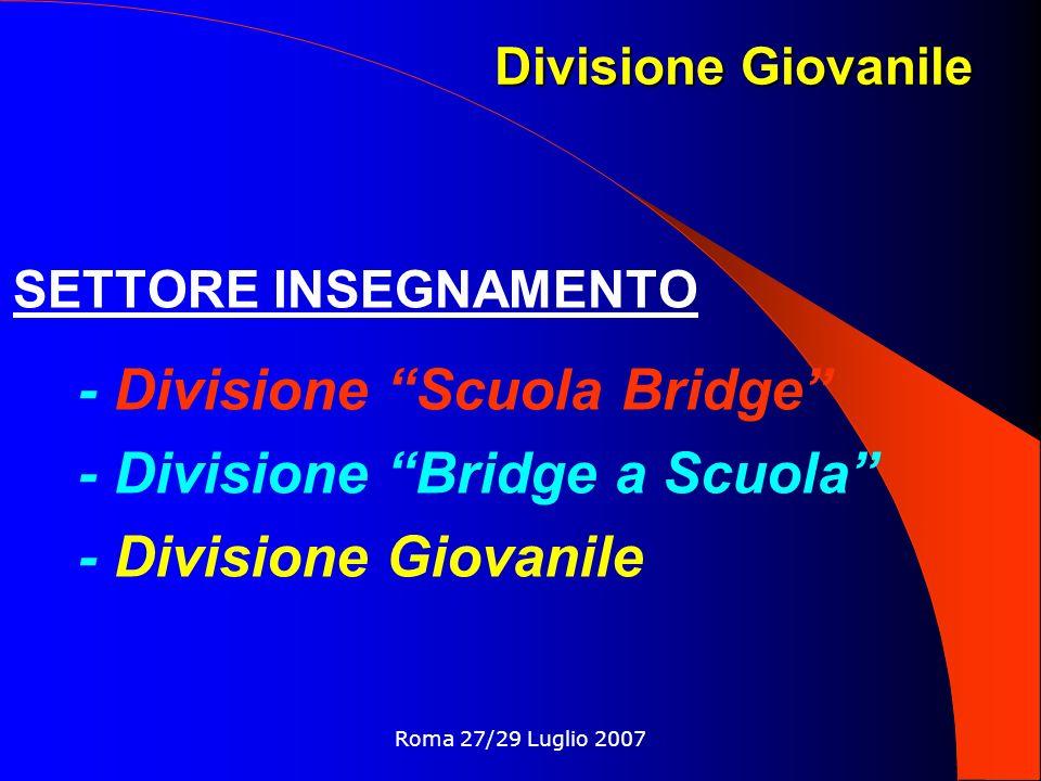 - Divisione Scuola Bridge - Divisione Bridge a Scuola
