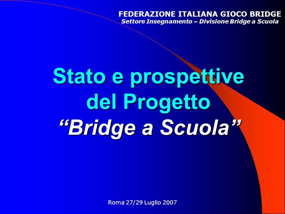 Stato e prospettive del Progetto Bridge a Scuola