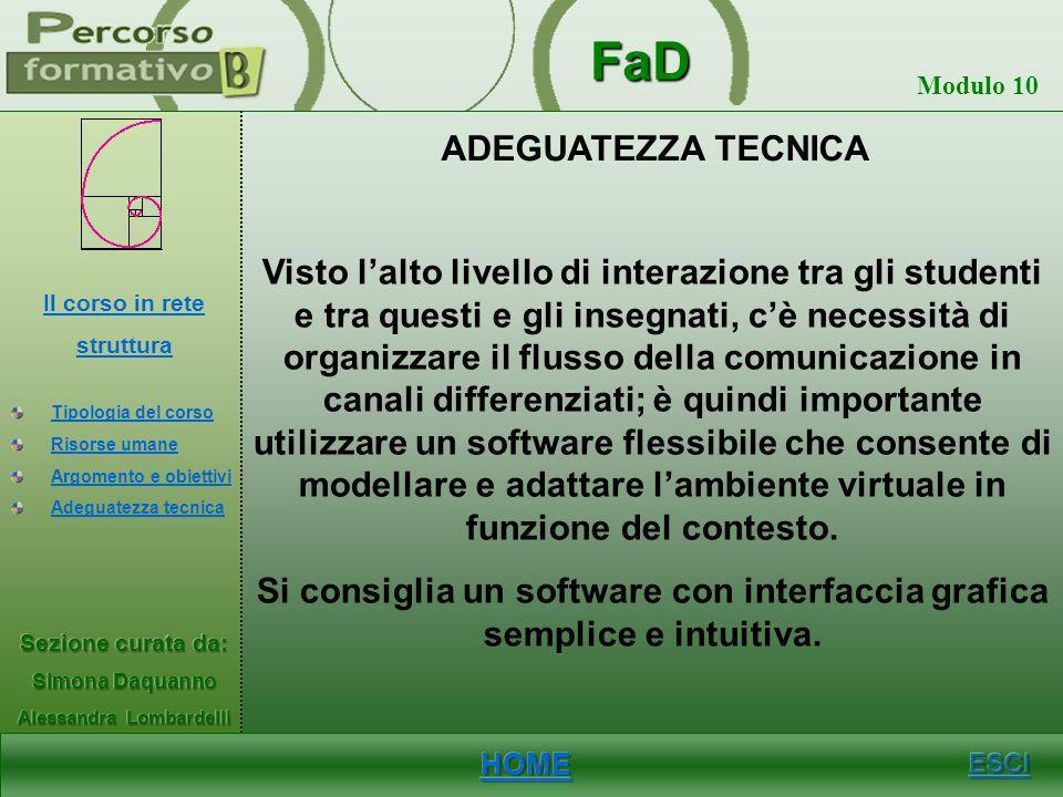 Si consiglia un software con interfaccia grafica semplice e intuitiva.