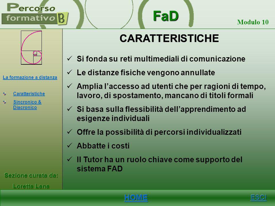 CARATTERISTICHE CARATTERISTICHE