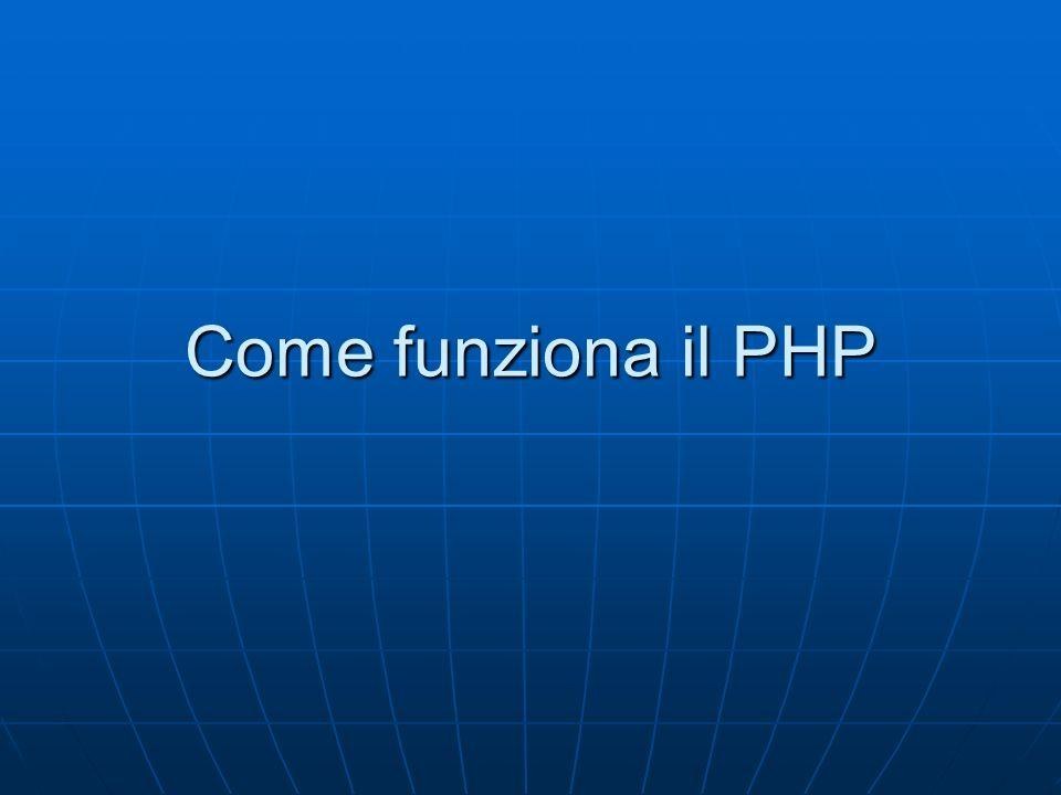 Come funziona il PHP