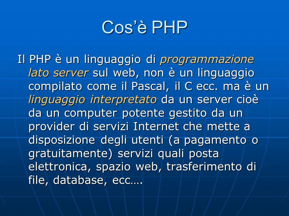 Cos'è PHP