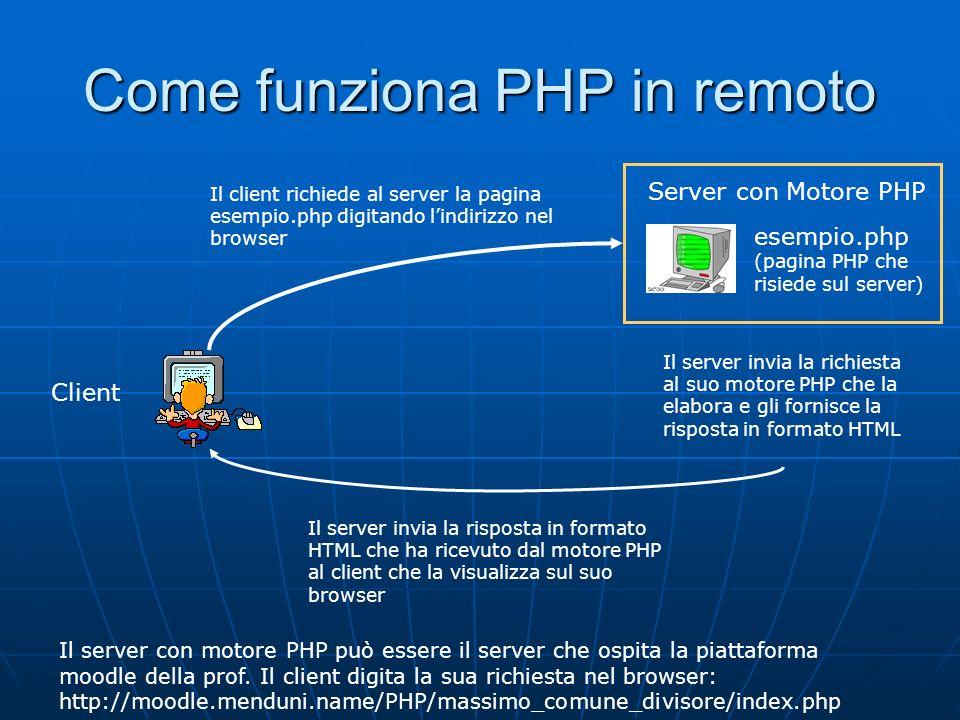 Come funziona PHP in remoto