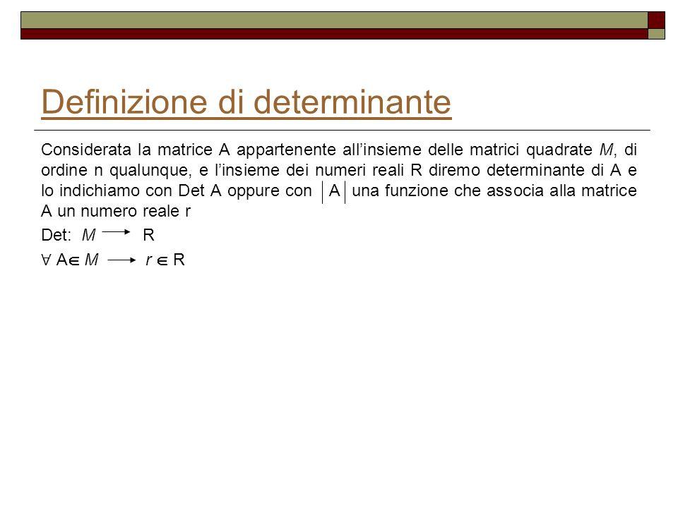 Definizione di determinante