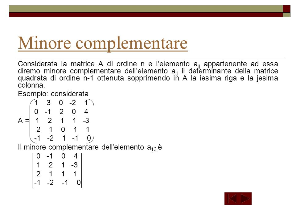 Minore complementare