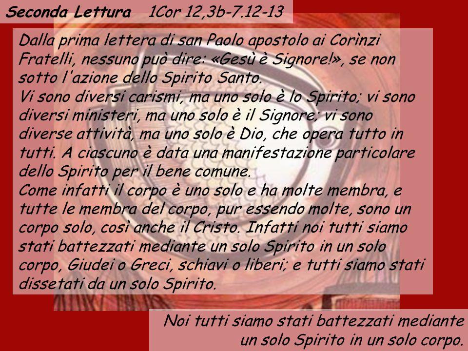 Seconda Lettura 1Cor 12,3b-7.12-13