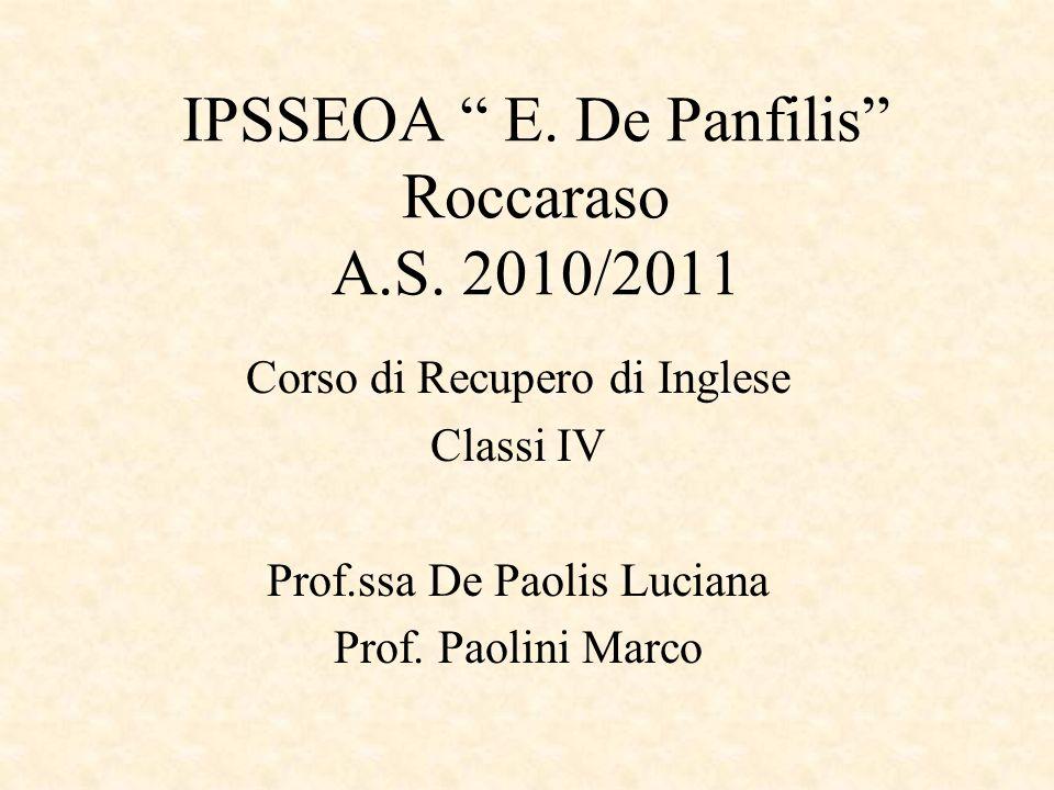 IPSSEOA E. De Panfilis Roccaraso A.S. 2010/2011