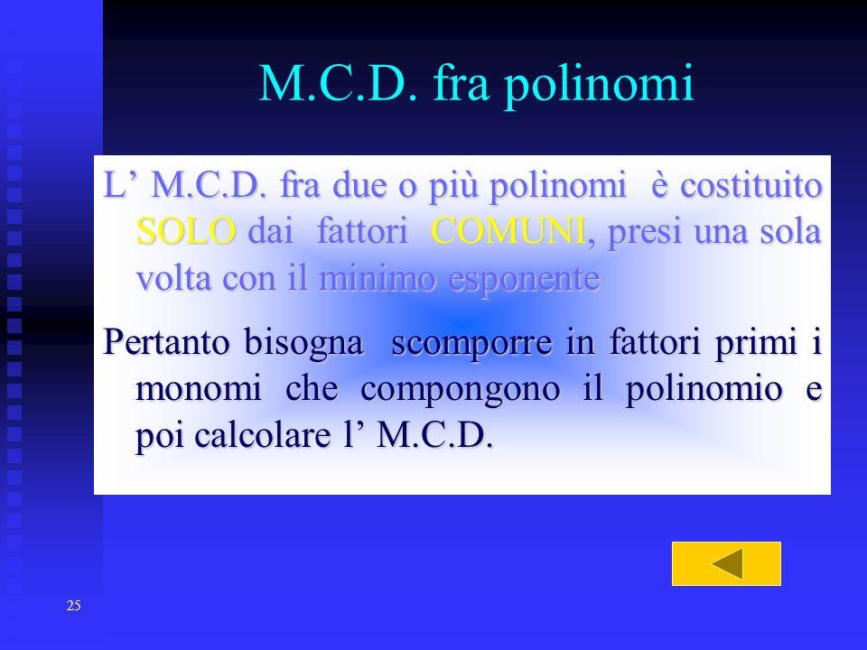29/03/2017 M.C.D. fra polinomi.