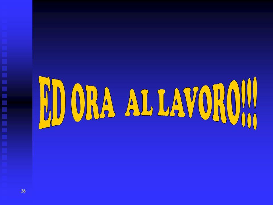 ED ORA AL LAVORO!!!