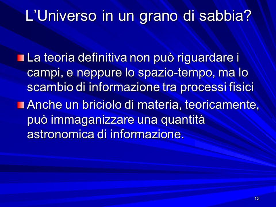 L'Universo in un grano di sabbia