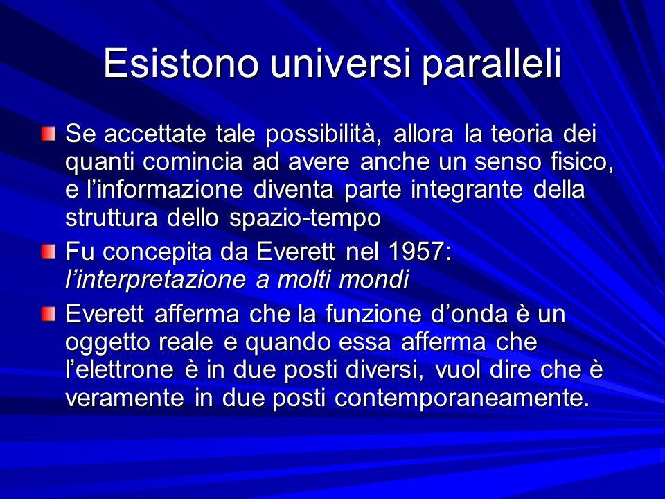 Esistono universi paralleli