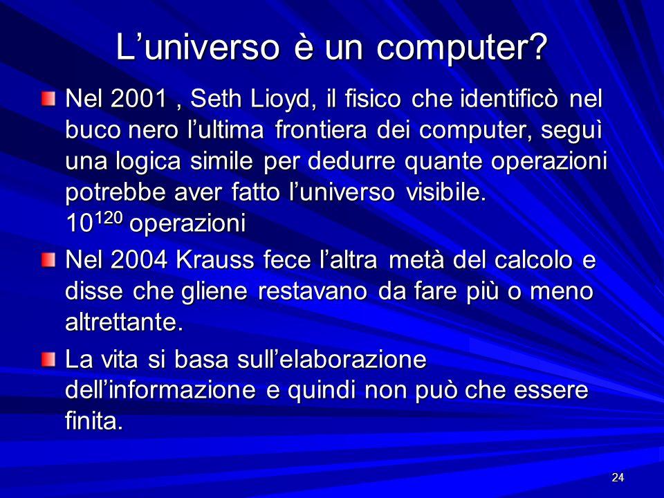 L'universo è un computer