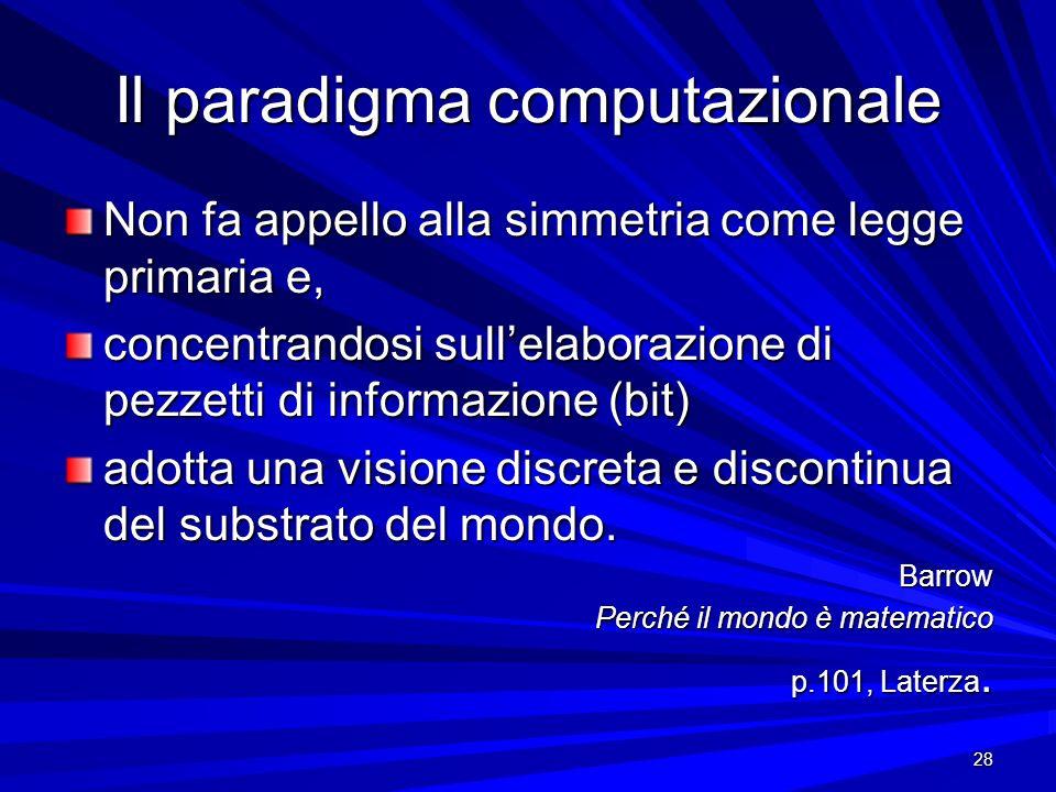 Il paradigma computazionale