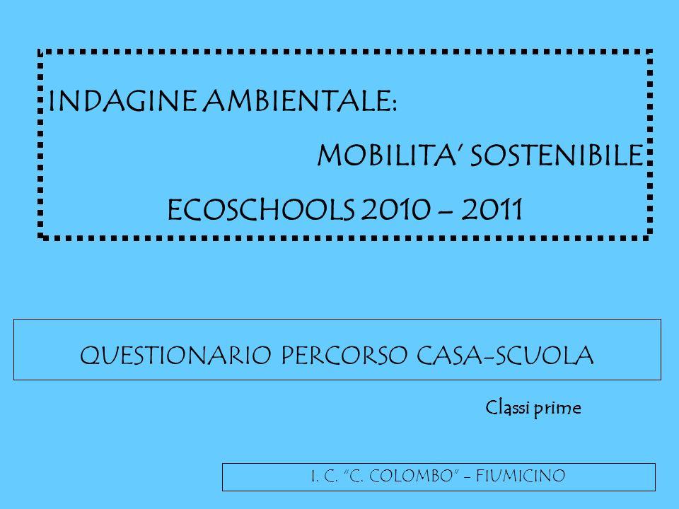 MOBILITA' SOSTENIBILE ECOSCHOOLS 2010 – 2011
