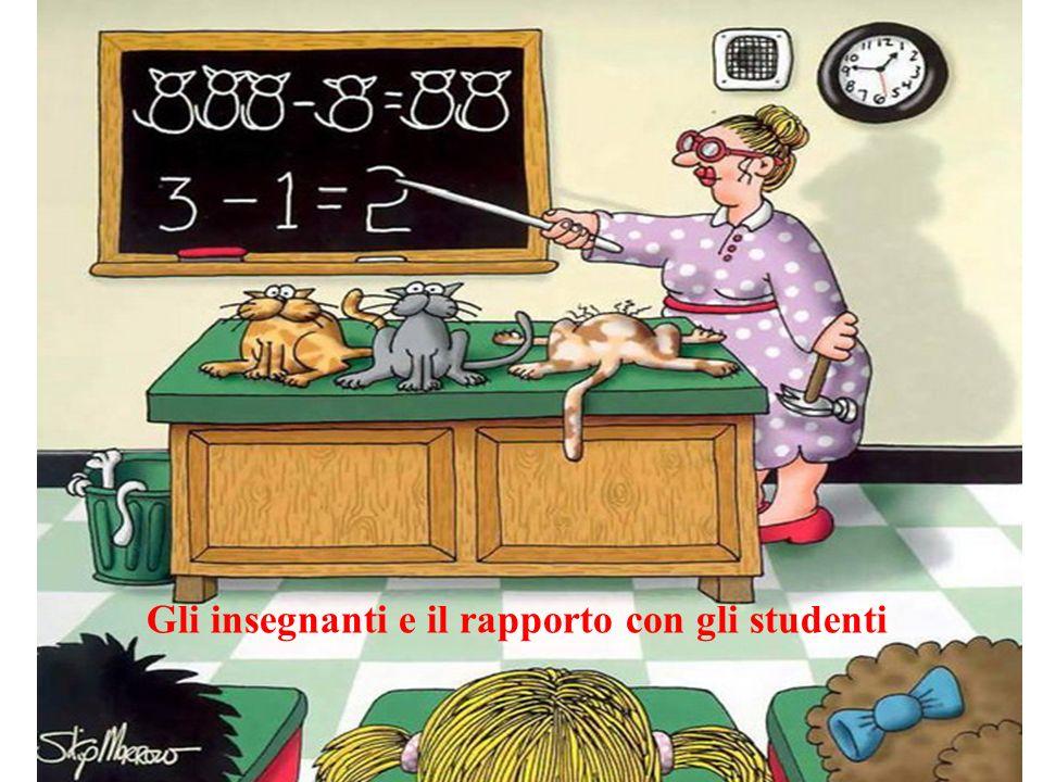 Gli insegnanti e il rapporto con gli studenti