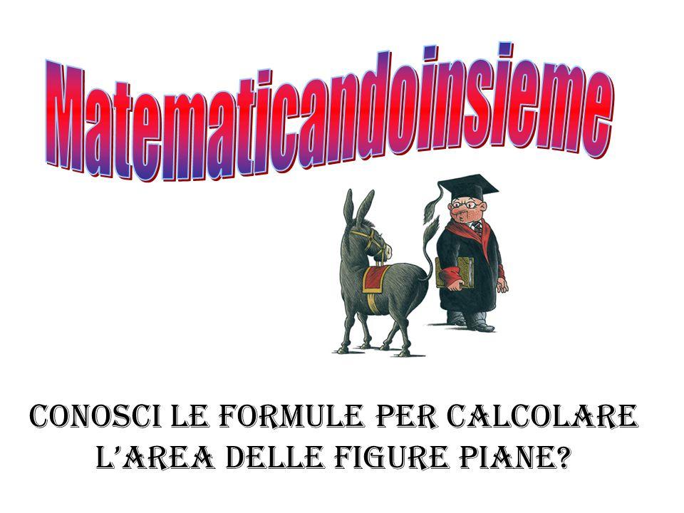 Conosci le formule per calcolare l'area delle figure piane