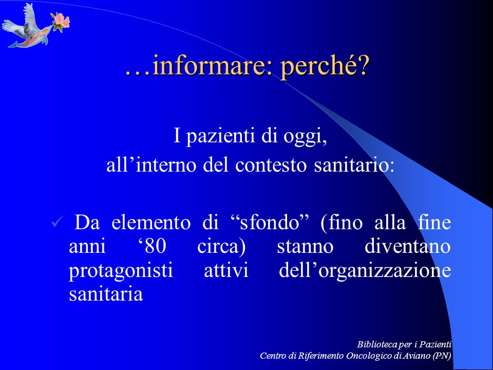 all'interno del contesto sanitario: