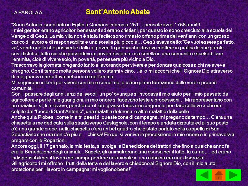 LA PAROLA A… Sant'Antonio Abate