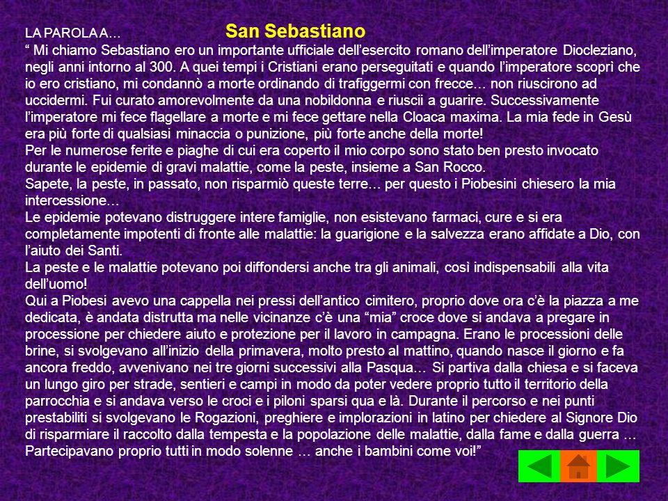 LA PAROLA A… San Sebastiano