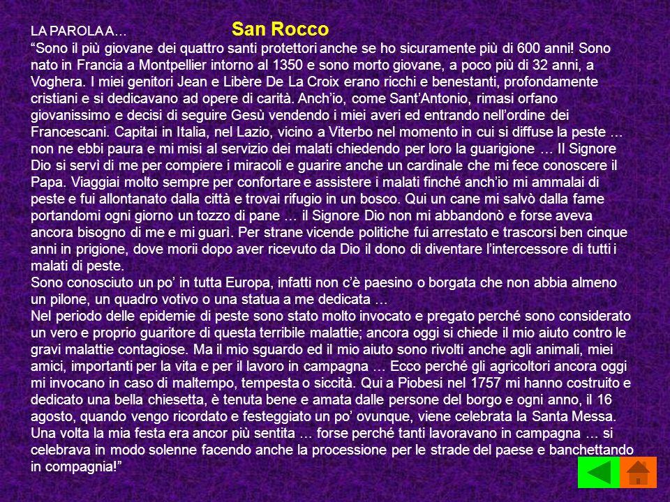 LA PAROLA A… San Rocco