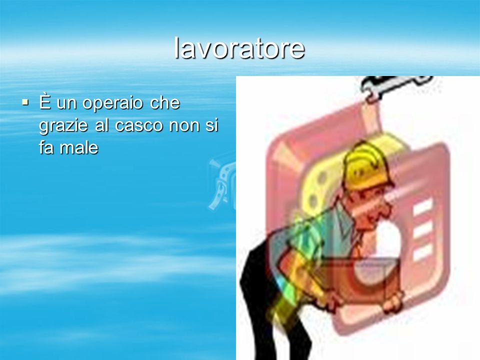 lavoratore È un operaio che grazie al casco non si fa male