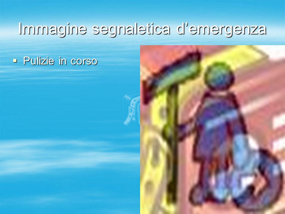 Immagine segnaletica d'emergenza