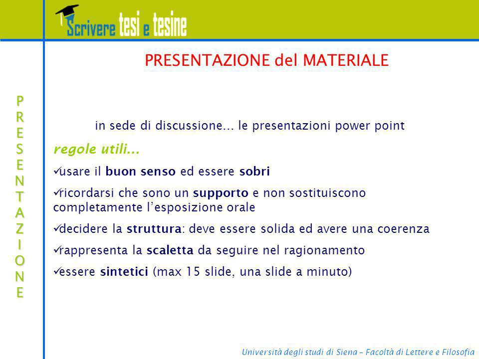 in sede di discussione... le presentazioni power point
