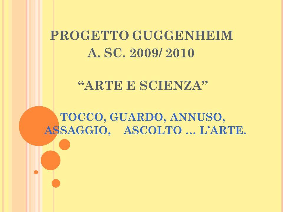 TOCCO, GUARDO, ANNUSO, ASSAGGIO, ASCOLTO … L'ARTE.